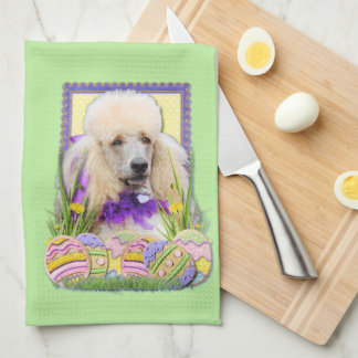 Easter Egg Cookies - Poodle - Champagne Hand Towel