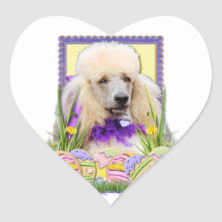 Easter Egg Cookies - Poodle - Champagne Heart Sticker