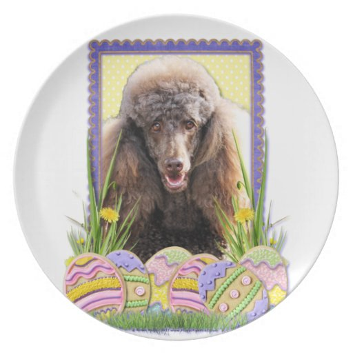 Easter Egg Cookies - Poodle - Chocolate Plate