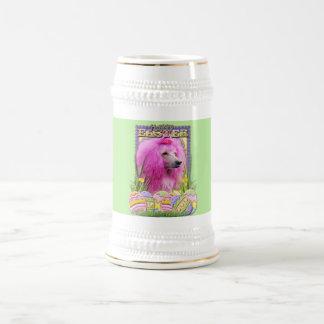 Easter Egg Cookies - Poodle - Pink Beer Stein