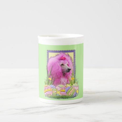 Easter Egg Cookies - Poodle - Pink Bone China Mugs