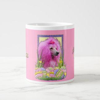 Easter Egg Cookies - Poodle - Pink Giant Coffee Mug