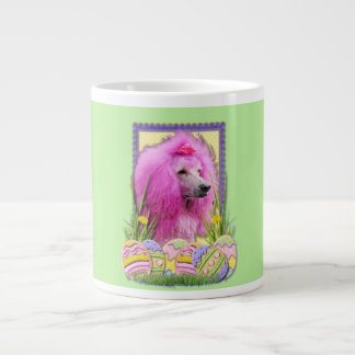 Easter Egg Cookies - Poodle - Pink Large Coffee Mug