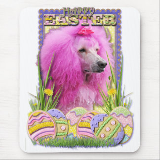 Easter Egg Cookies - Poodle - Pink Mouse Pad