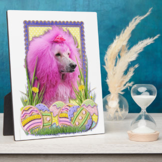 Easter Egg Cookies - Poodle - Pink Plaque