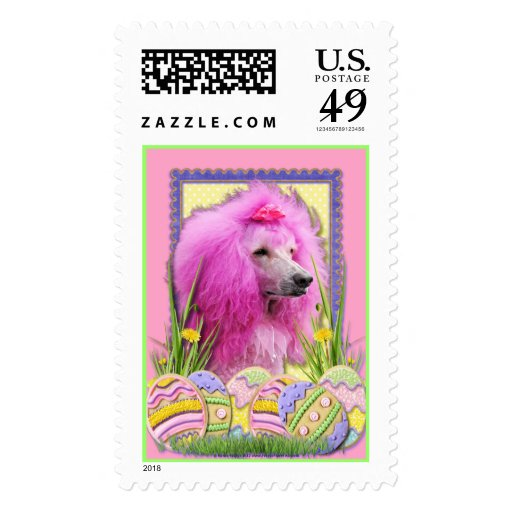 Easter Egg Cookies - Poodle - Pink Stamps