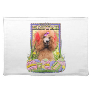 Easter Egg Cookies - Poodle - Red Cloth Placemat
