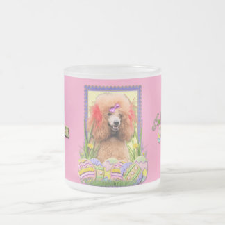 Easter Egg Cookies - Poodle - Red Frosted Glass Coffee Mug