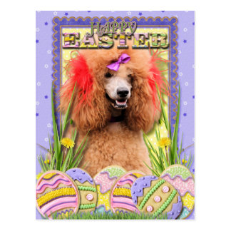 Easter Egg Cookies - Poodle - Red Post Cards