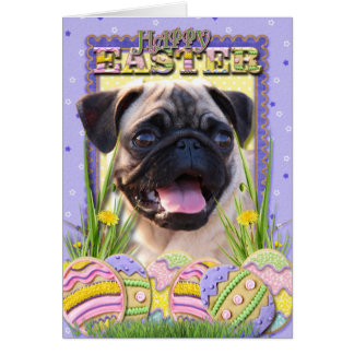 Easter Egg Cookies - Pug Greeting Card