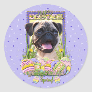 Easter Egg Cookies - Pug Classic Round Sticker