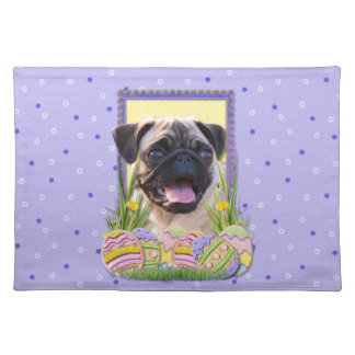 Easter Egg Cookies - Pug Cloth Placemat