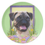Easter Egg Cookies - Pug Dinner Plate