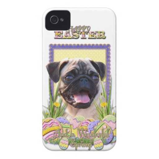 Easter Egg Cookies - Pug iPhone 4 Case