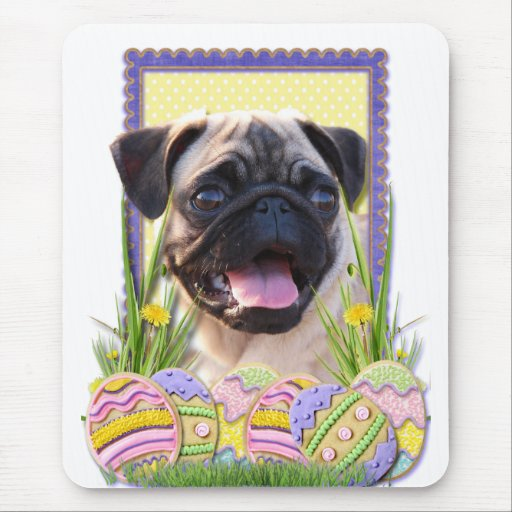 Easter Egg Cookies - Pug Mouse Pad