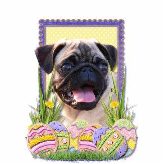 Easter Egg Cookies - Pug Standing Photo Sculpture