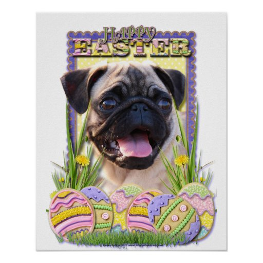 Easter Egg Cookies - Pug Poster