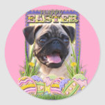 Easter Egg Cookies - Pug Round Sticker