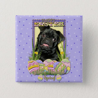 Easter Egg Cookies - Pug - Ruffy Pinback Button