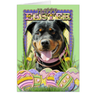 Easter Egg Cookies - Rottweiler Card