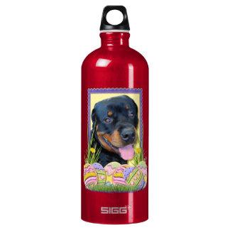 Easter Egg Cookies - Rottweiler - Harley Aluminum Water Bottle