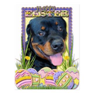 Easter Egg Cookies - Rottweiler - Harley Postcard