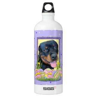 Easter Egg Cookies - Rottweiler - Harley Water Bottle