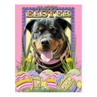 Easter Egg Cookies - Rottweiler Post Card