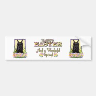 Easter Egg Cookies - Schnauzer Bumper Sticker