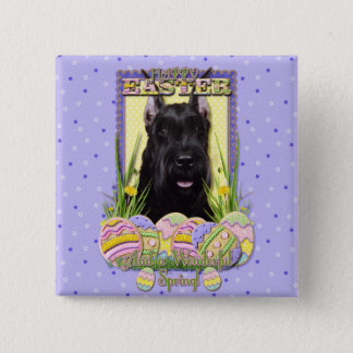 Easter Egg Cookies - Schnauzer Pinback Button