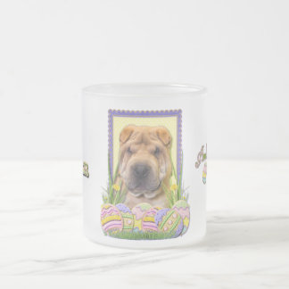 Easter Egg Cookies - Shar Pei Frosted Glass Coffee Mug