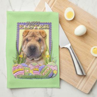 Easter Egg Cookies - Shar Pei Kitchen Towel