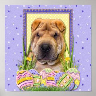 Easter Egg Cookies - Shar Pei Poster