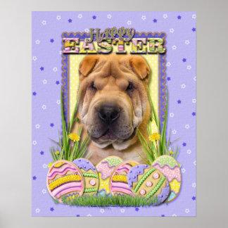Easter Egg Cookies - Shar Pei Print