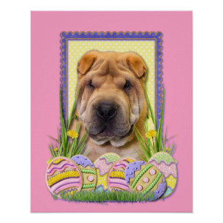 Easter Egg Cookies - Shar Pei Posters