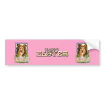 Easter Egg Cookies - Sheltie Bumper Sticker