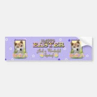 Easter Egg Cookies - Shiba Inu Bumper Sticker