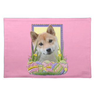 Easter Egg Cookies - Shiba Inu Cloth Placemat