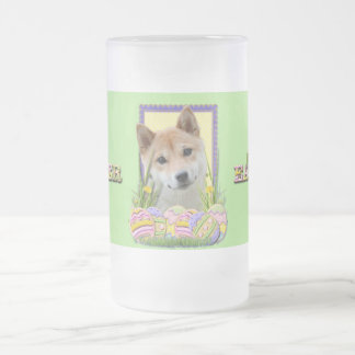 Easter Egg Cookies - Shiba Inu Frosted Glass Beer Mug
