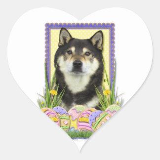 Easter egg Cookies - Shiba Inu Heart Sticker