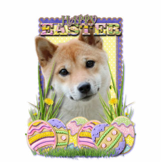 Easter Egg Cookies - Shiba Inu Cut Out