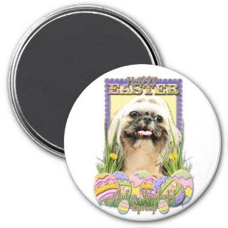 Easter Egg Cookies - Shih Tzu - Opal Refrigerator Magnet