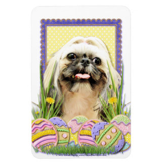 Easter Egg Cookies - Shih Tzu - Opal Vinyl Magnet