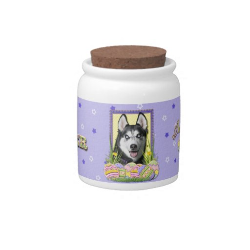 Easter Egg Cookies - Siberian Husky Candy Jars