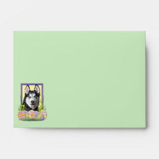 Easter Egg Cookies - Siberian Husky Envelopes