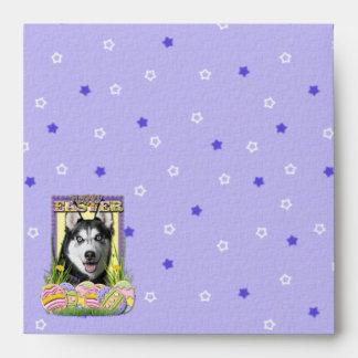 Easter Egg Cookies - Siberian Husky Envelope