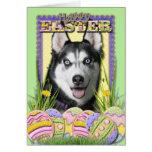 Easter Egg Cookies - Siberian Husky Greeting Cards