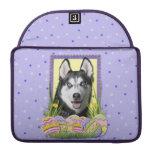 Easter Egg Cookies - Siberian Husky MacBook Pro Sleeve