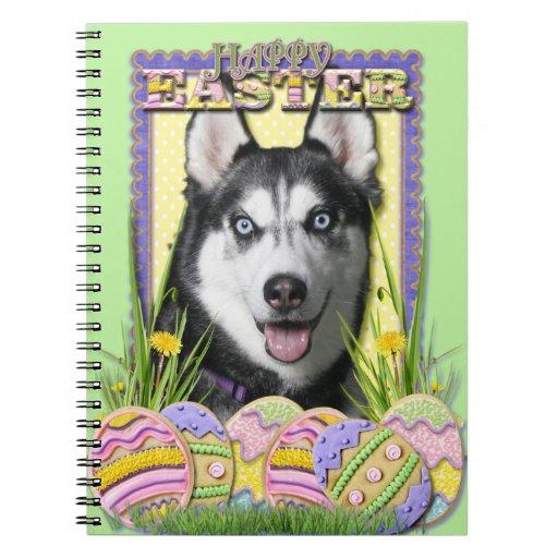 Easter Egg Cookies - Siberian Husky Note Book
