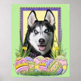 Easter Egg Cookies - Siberian Husky Poster
